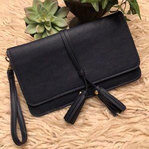 Like new-Merona brand Faux Leather Wristlet